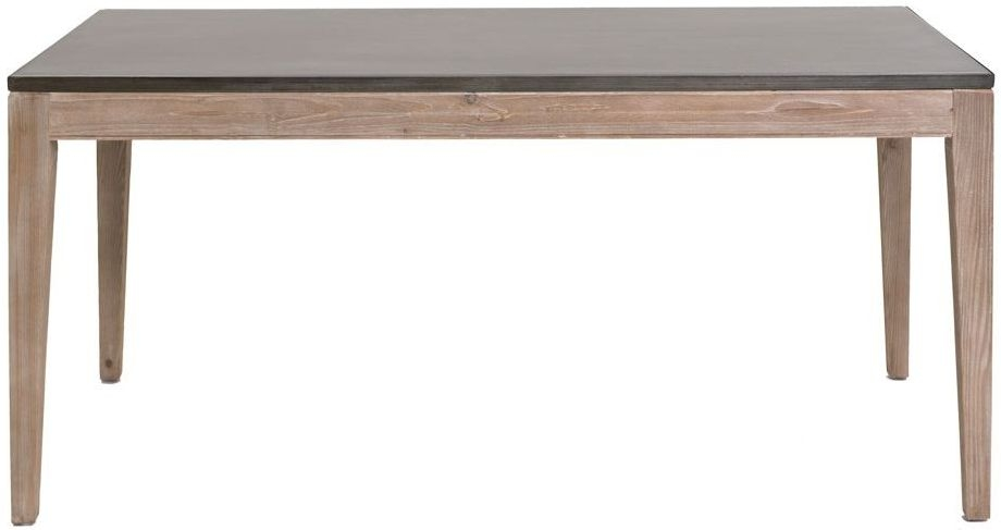Willis and Gambier Forte Pine Faux Concrete Top Dining Table - 165cm
