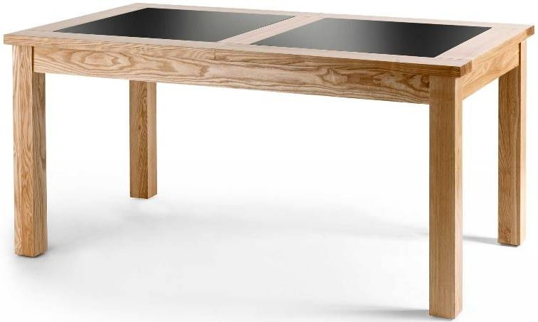 Willis and Gambier Fusion Dining Table - 160cm Extending with Removable Glass