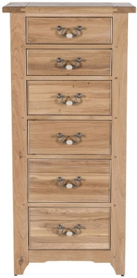 Willis and Gambier Gloucester Oak 6 Tall Chest of Drawer