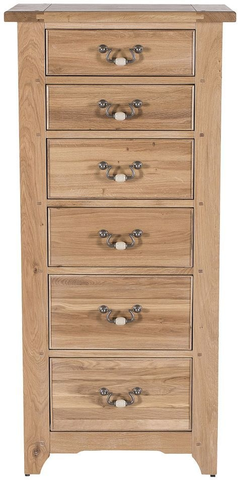 Willis and Gambier Gloucester EOL Oak 6 Tall Chest of Drawer