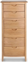 Willis and Gambier Grace Oak 6 Drawer Tall Chest