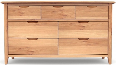 Willis and Gambier Grace Oak 7 Chest of Drawer