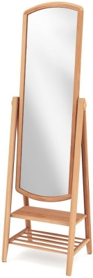 Willis and Gambier Grace Oak Cheval Mirror - Rectangular
