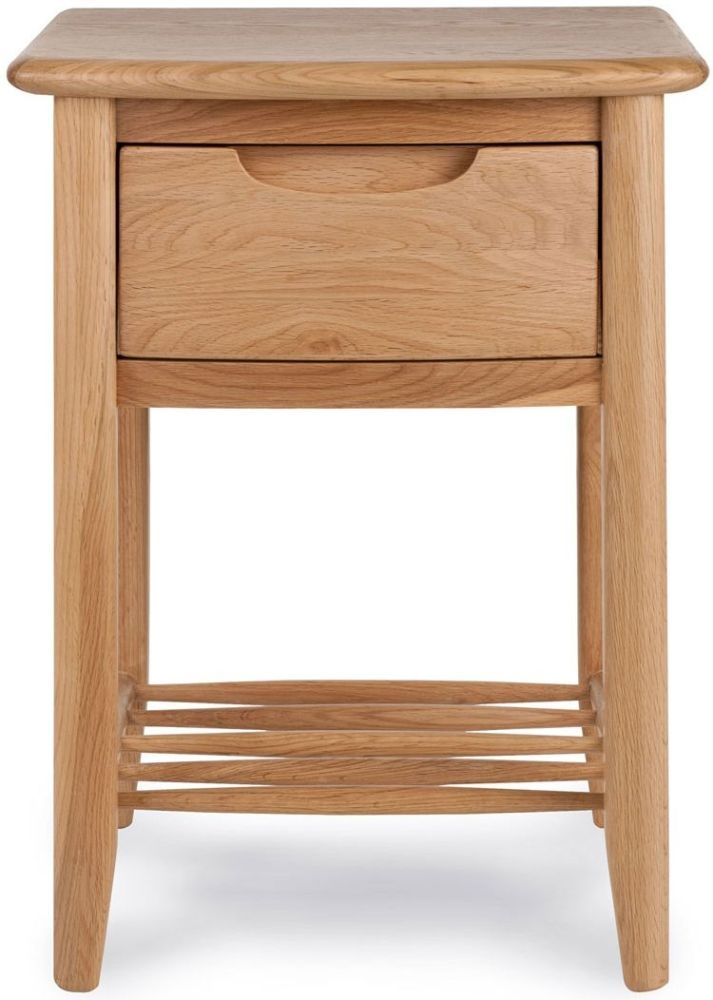 Willis and Gambier Grace Oak 1 Drawer Bedside Table