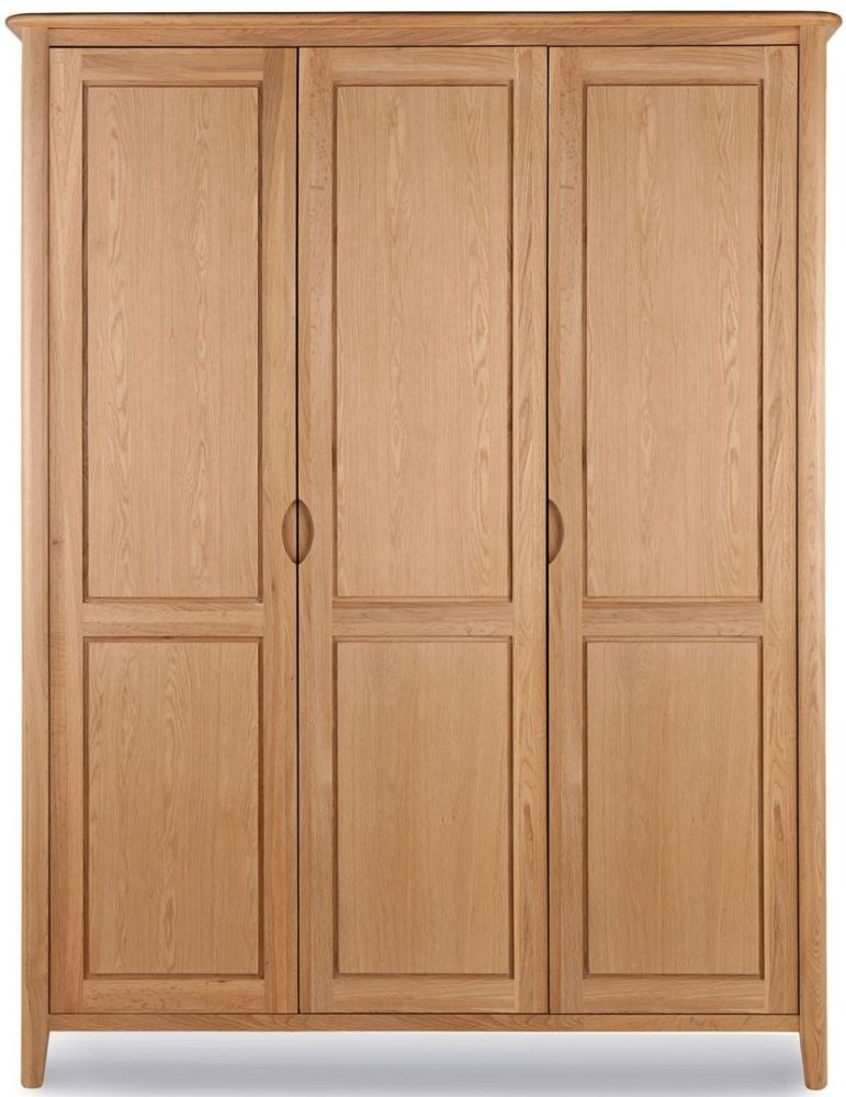 Willis and Gambier Grace Oak 3 Door Triple Wardrobe