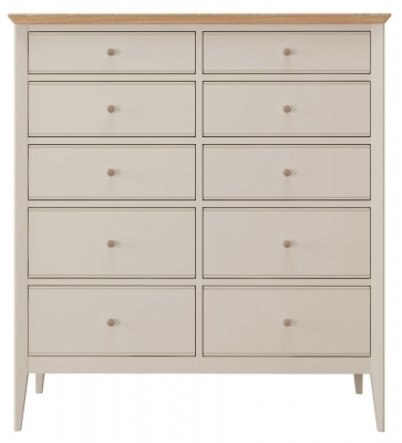 Willis and Gambier Hancock Grey 10 Drawer Chest