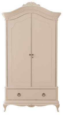 Willis and Gambier Ivory 2 Door 1 Drawer Double Wardrobe