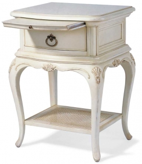 Willis and Gambier Ivory 1 Drawer Bedside Table