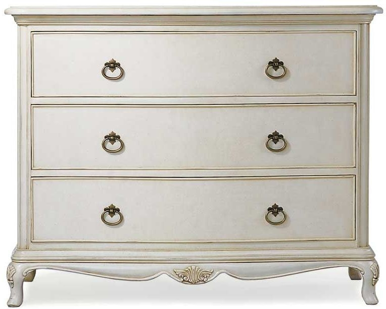 Willis and Gambier Ivory 3 Drawer Low Chest