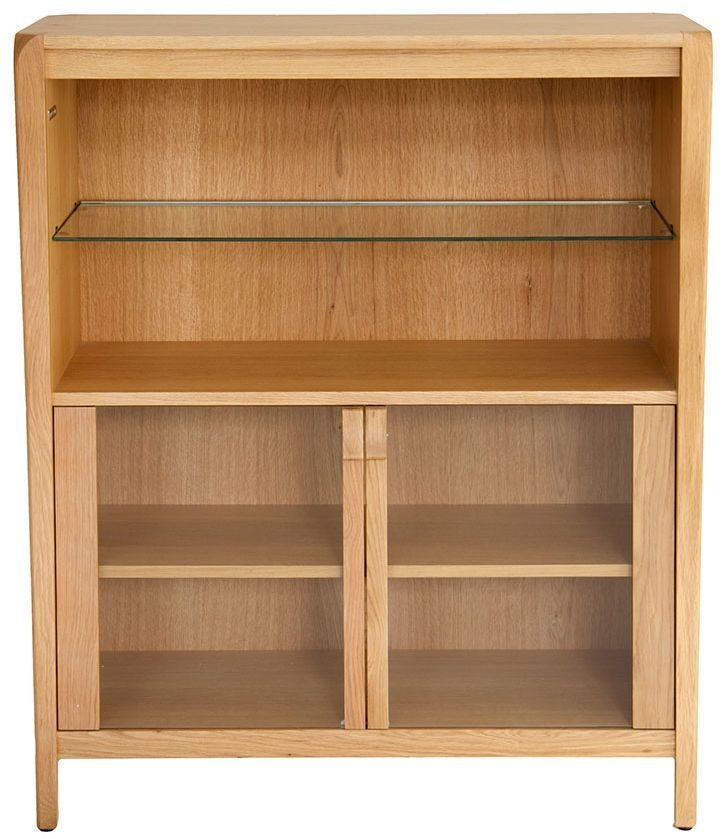 Willis and Gambier Kennedy Oak Glazed Display Cabinet - Low