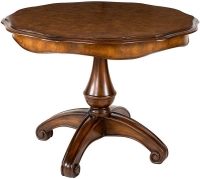Willis and Gambier Kensington Burl Round Dining Table - 122cm