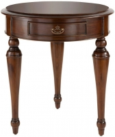 Willis and Gambier Kensington Burl 1 Drawer Occasional Table