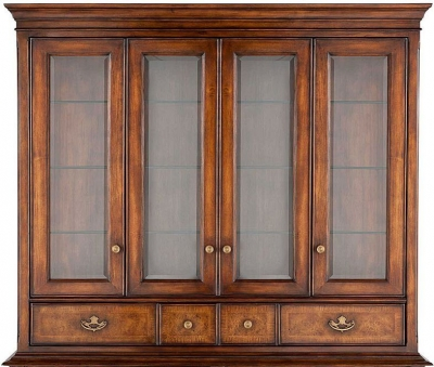 Willis and Gambier Kensington Burl Console Hutch - Rectangular