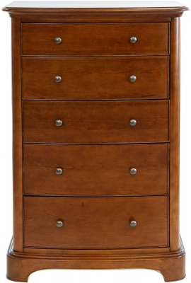 Willis and Gambier Lille Cherry 5 Drawer Tall Chest
