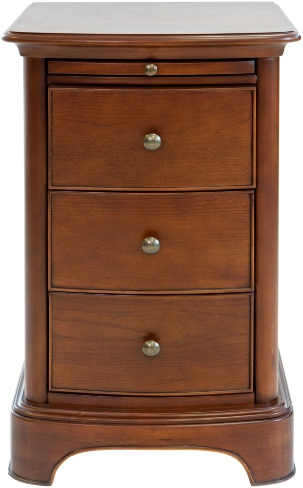 Willis and Gambier Lille Cherry 3 Drawer Bedside Cabinet