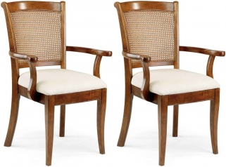 Willis and Gambier Lille Cane Carver Chair (Pair)