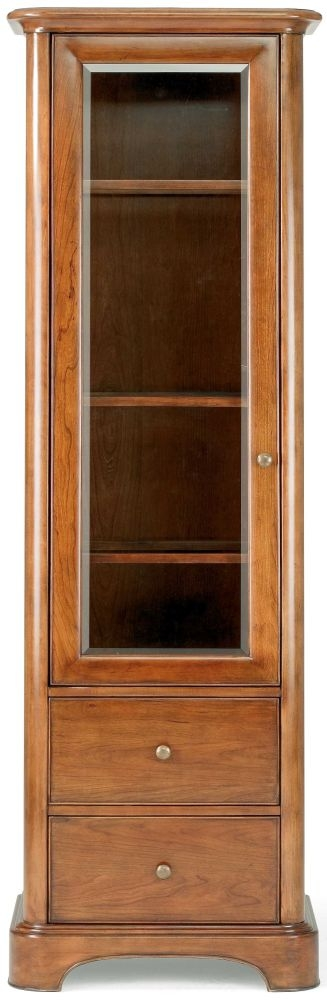 Willis and Gambier Lille Cherry Display Cabinet - 1 Door 2 Drawer