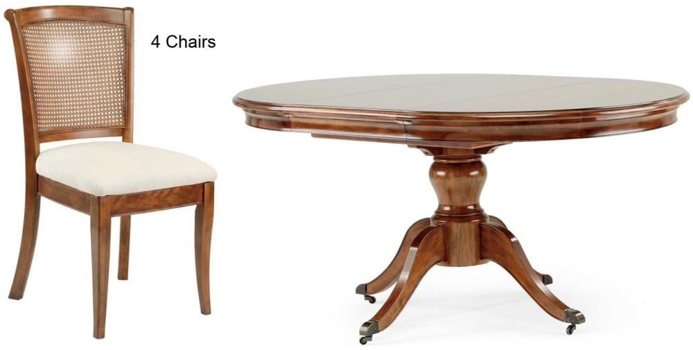 Willis and Gambier Lille Round Pedestal Dining Table with 4 Chairs