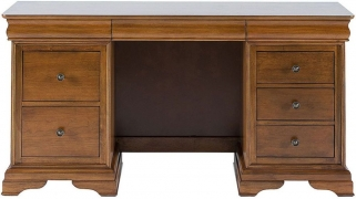 Willis and Gambier Louis Philippe Honeycomb 6 Drawer Double Pedestal Dressing Table