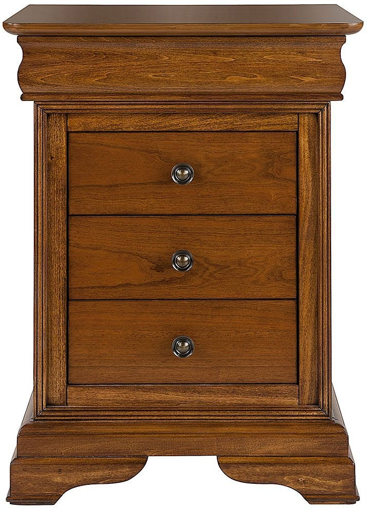 Willis and Gambier Louis Philippe Honeycomb 3 Drawer Bedside Cabinet