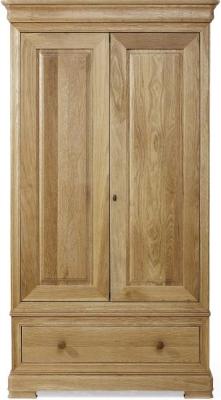 Willis and Gambier Lyon Oak 2 Door 1 Drawer Double Wardrobe