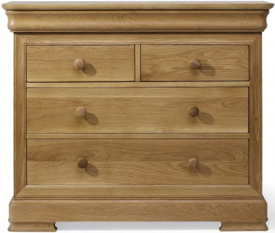 Willis and Gambier Lyon Oak Low 2+2 Drawer Chest
