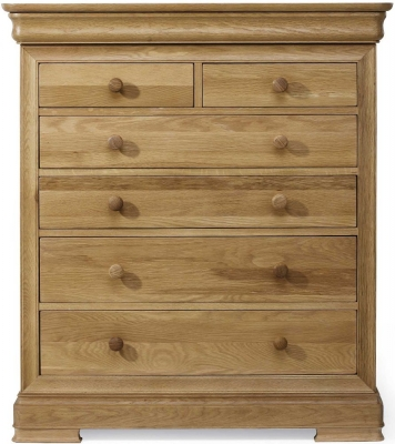 Willis and Gambier Lyon Oak Wide 4+2 Drawer Chest