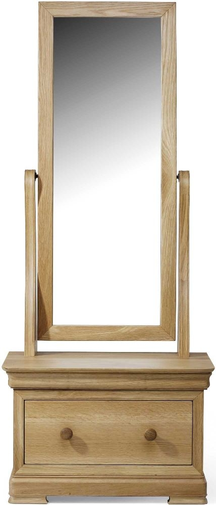 Willis and Gambier Lyon Oak Cheval Mirror