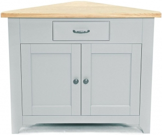 Willis and Gambier Malvern Slate Grey Corner Cupboard
