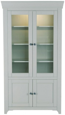 Willis and Gambier Malvern Slate Grey Tall Glazed Display Cabinet