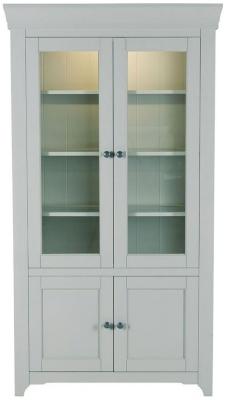 Willis and Gambier Malvern Slate Grey Tall Glazed Display Cabinet
