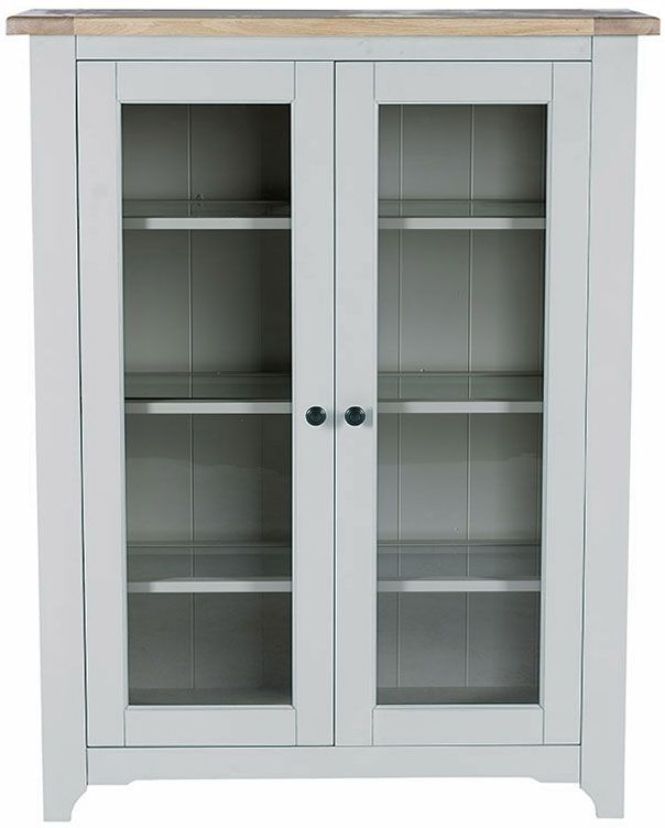 Willis and Gambier Malvern Slate Grey Low Glazed Display Cabinet
