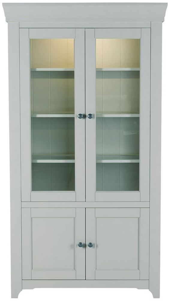 Charmant Willis And Gambier Malvern Slate Grey Tall Glazed Display Cabinet