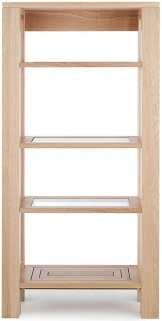 Willis and Gambier Maze Oak Glazed Shelving Unit