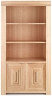 Willis and Gambier Maze Oak Tall Bookcase