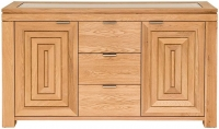 Willis and Gambier New Maze Oak 2 Door 3 Drawer Wide Sideboard