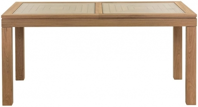 Willis and Gambier New Maze Oak Large Rectangular Extending Dining Table - 162cm-200cm