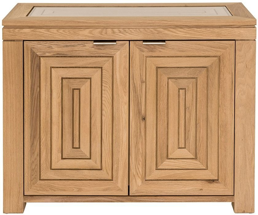 Willis and Gambier New Maze Oak 2 Door Narrow Sideboard