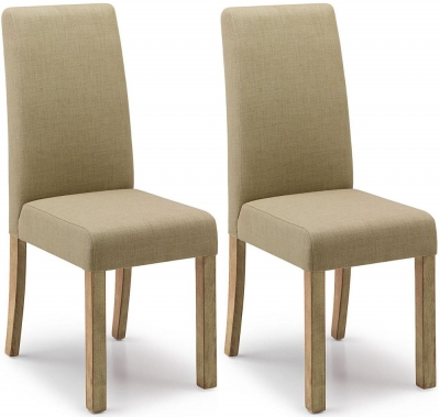 Willis and Gambier Originals Harlequin Olive Dining Chair with Light Leg (Pair)