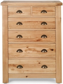 Willis and Gambier Originals Normandy Oak 2+4 Tall Chest of Drawer