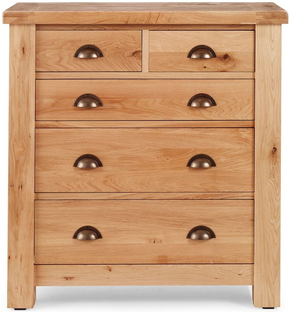 Willis and Gambier Originals Normandy EOL Oak 2+3 Low Chest of Drawer