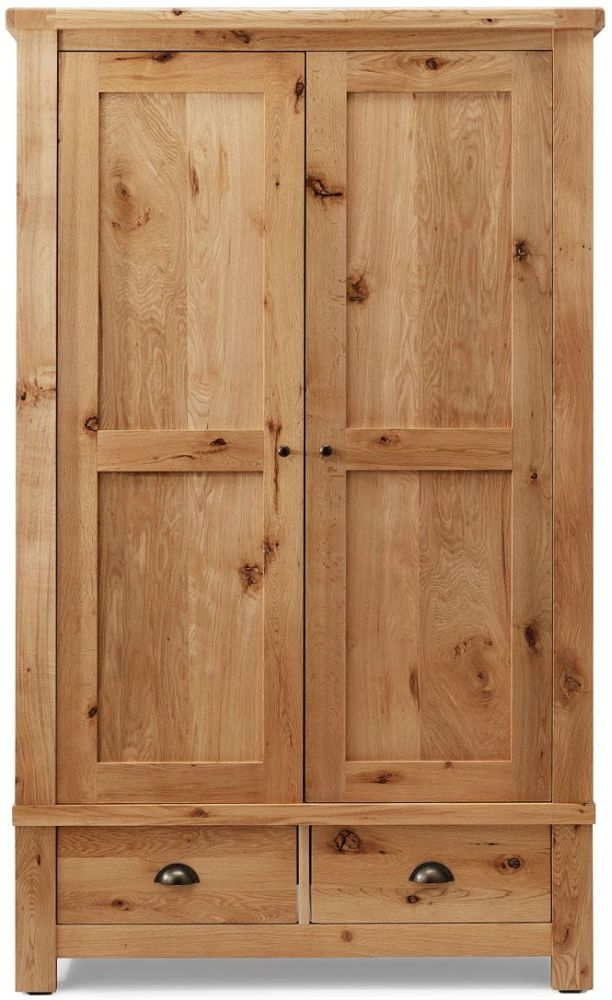 Willis and Gambier Originals Normandy EOL Oak Double Wardrobe - 2 Door