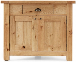 Willis And Gambier Originals Normandy Oak 2 Door 1 Drawer Corner Cupboard