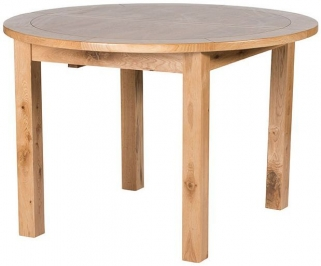 Willis and Gambier Originals Normandy Oak Round Fixed Top Dining Table