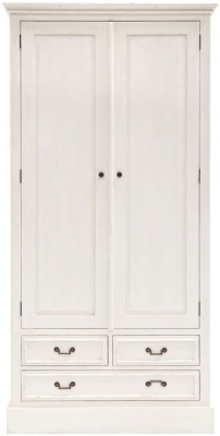 Willis and Gambier Originals Siena Off White Double Wardrobe