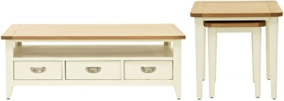 Willis and Gambier Penrose Off White Painted Coffee Table with Nest of Tables