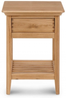 Willis and Gambier Spirit Oak 1 Drawer Bedside Table