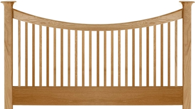 Willis and Gambier Spirit Oak Straight Headboard - 4ft 6in Double