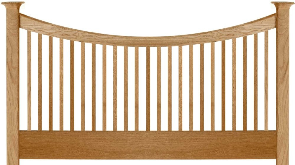 Willis and Gambier Spirit Oak Straight Headboard