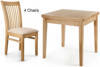 Willis and Gambier Spirit Oak Flip Top Dining Table with 4 Chairs